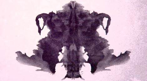 The fourth blot of the Rorschach inkblot test.