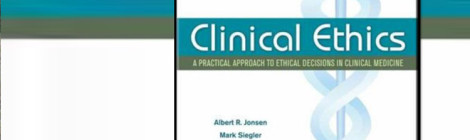 Cover of the book, Clinical Ethics.