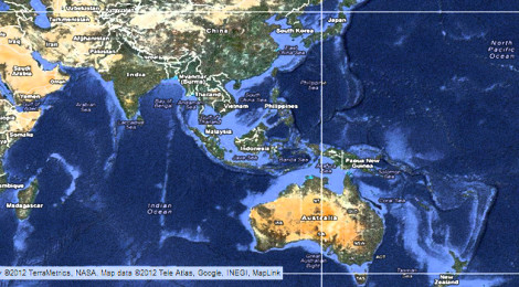 Map of the Asia-Pacific region.