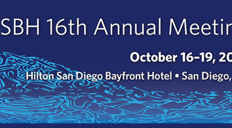 Advertisement for the ASBH 16th Annual Meeting, October 16 through 19, 2014, at the Hilton San Diego Bayfront Hotel.